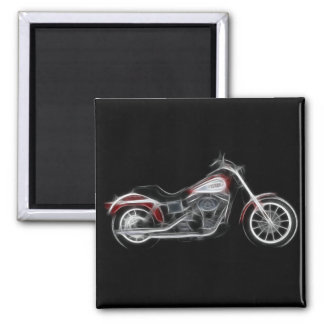 Chopper Hog Heavyweight Motorcycle Square Magnet