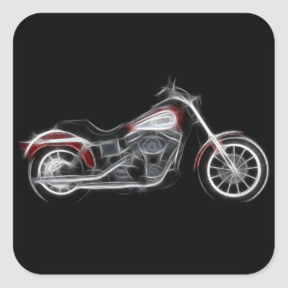 Chopper Hog Heavyweight Motorcycle Square Sticker