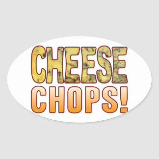 Chops Blue Cheese Oval Sticker