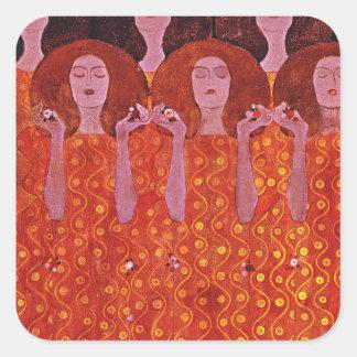 Chor der Paradiesvogel Square Sticker