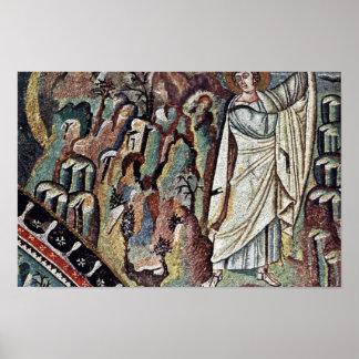 Chor Mosaics At San Vitale In Ravenna, Szene: Mose Poster