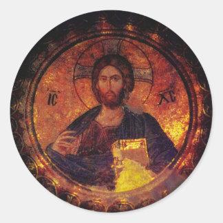 Chora Christ Classic Round Sticker