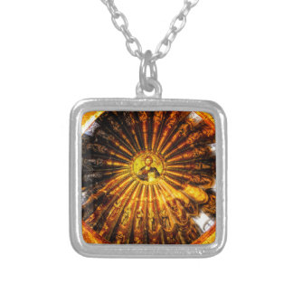 Chora Dome Silver Plated Necklace