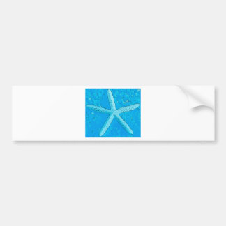 Choral Starfish Blue Bumper Sticker