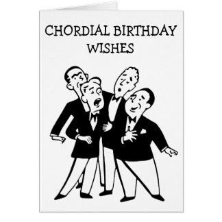 Chordial Birthday Card