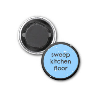 chore chart magnet - sweep kitchen floor