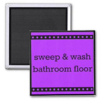 chore chart magnet - sweep & wash bathroom floor