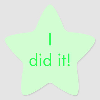 "Chore Chart Sticker ""I did it!"""