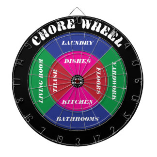 Chore Wheel Dartboard with Customizable Chores
