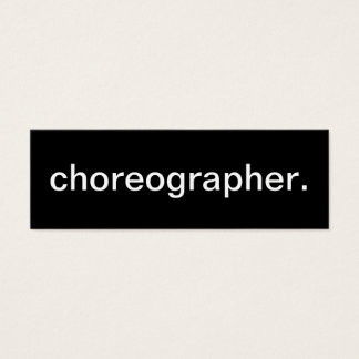 Choreographer Business Card