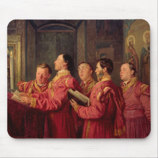 Choristers in the Church, 1870 Mouse Pad