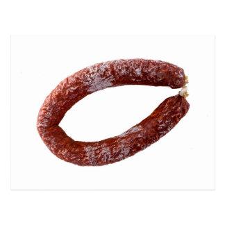 Chorizo sausage isolated as Cut Postcard