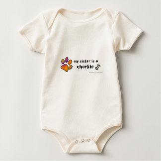 chorkie baby bodysuit