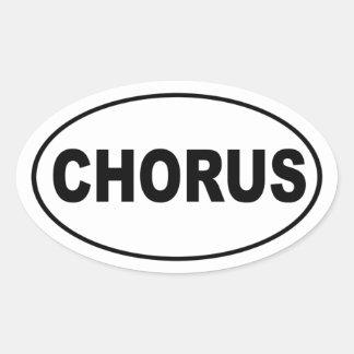 Chorus Oval Sticker