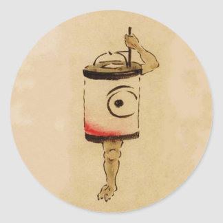 Chouchin-obake (fantôme de lampion) adhésif rond