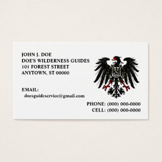 CHOUGH SHIELD OUTDOOR SERVICES ~ BUSINESS CARD
