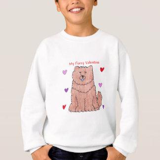 Chow Chjow Red Furry Valentine Sweatshirt