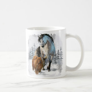 Chow Chow and horse Coffee Mug