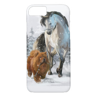 Chow Chow and horse iPhone 8/7 Case