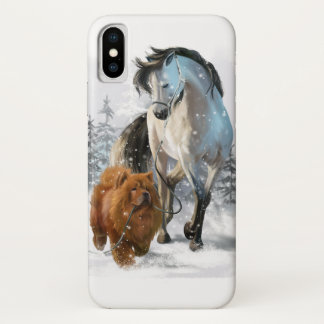 Chow Chow and horse iPhone X Case