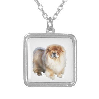 Chow Chow (B) - cream Silver Plated Necklace