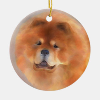 Chow Chow Beauty Ceramic Ornament