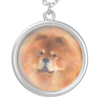 Chow Chow Beauty Silver Plated Necklace