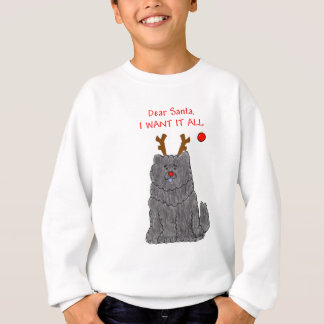 Chow Chow Black Dear Santa Sweatshirt
