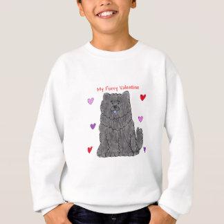 Chow Chow Black Furry Valentine Sweatshirt