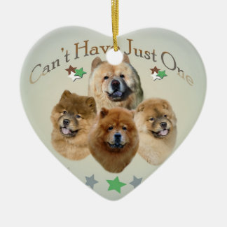 Chow Chow Can't Have Just One Ceramic Ornament
