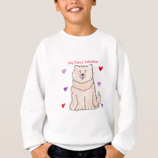 Chow Chow Cream Furry Valentine Sweatshirt