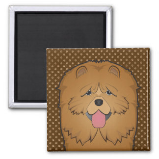Chow Chow Dog Cartoon Paws Magnet