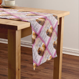 Chow Chow Dog Design - Daughter Poem Short Table Runner