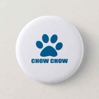 CHOW CHOW DOG DESIGNS 2 INCH ROUND BUTTON
