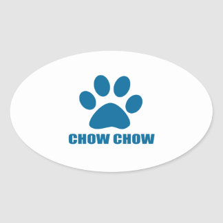 CHOW CHOW DOG DESIGNS OVAL STICKER