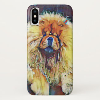 Chow Chow Dog on Porch in the Rain Case-Mate iPhone Case