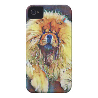 Chow Chow Dog on Porch in the Rain iPhone 4 Covers