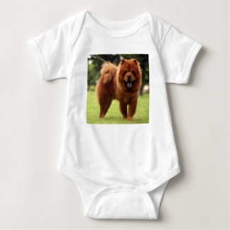 Chow Chow Dog Poses Baby Bodysuit