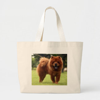 Chow Chow Dog Poses Large Tote Bag