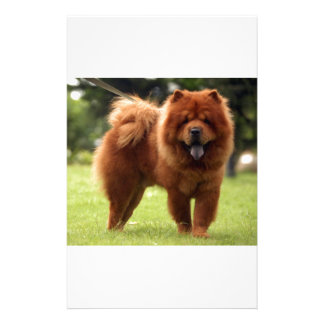 Chow Chow Dog Poses Stationery Design