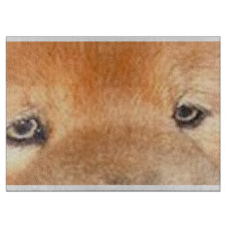 chow chow eyes cutting board