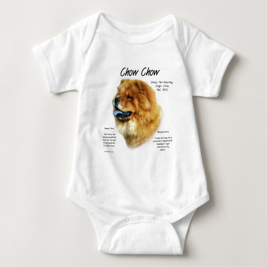 Chow Chow History Design Baby Bodysuit