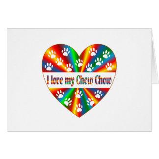 Chow Chow Love Card