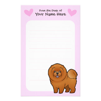 Chow Chow Love Customized Stationery
