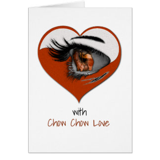 Chow Chow Love Greeting Card