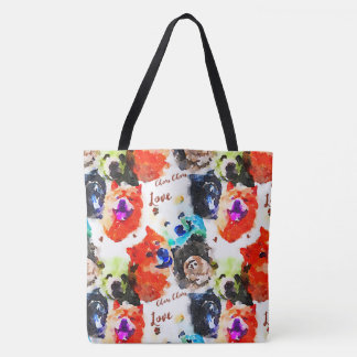 Chow Chow Love Watercolor Tote