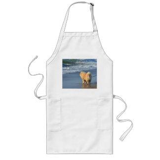 chow chow on beach long apron