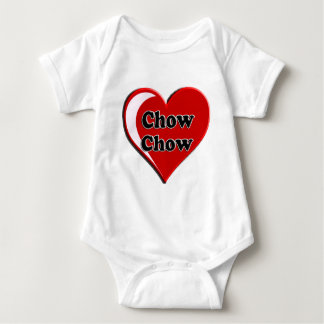 Chow Chow on Heart for dog lovers Baby Bodysuit