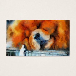 Chow Chow Painting Business Cards