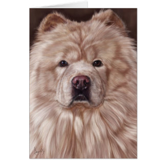 Chow Chow Painting Card